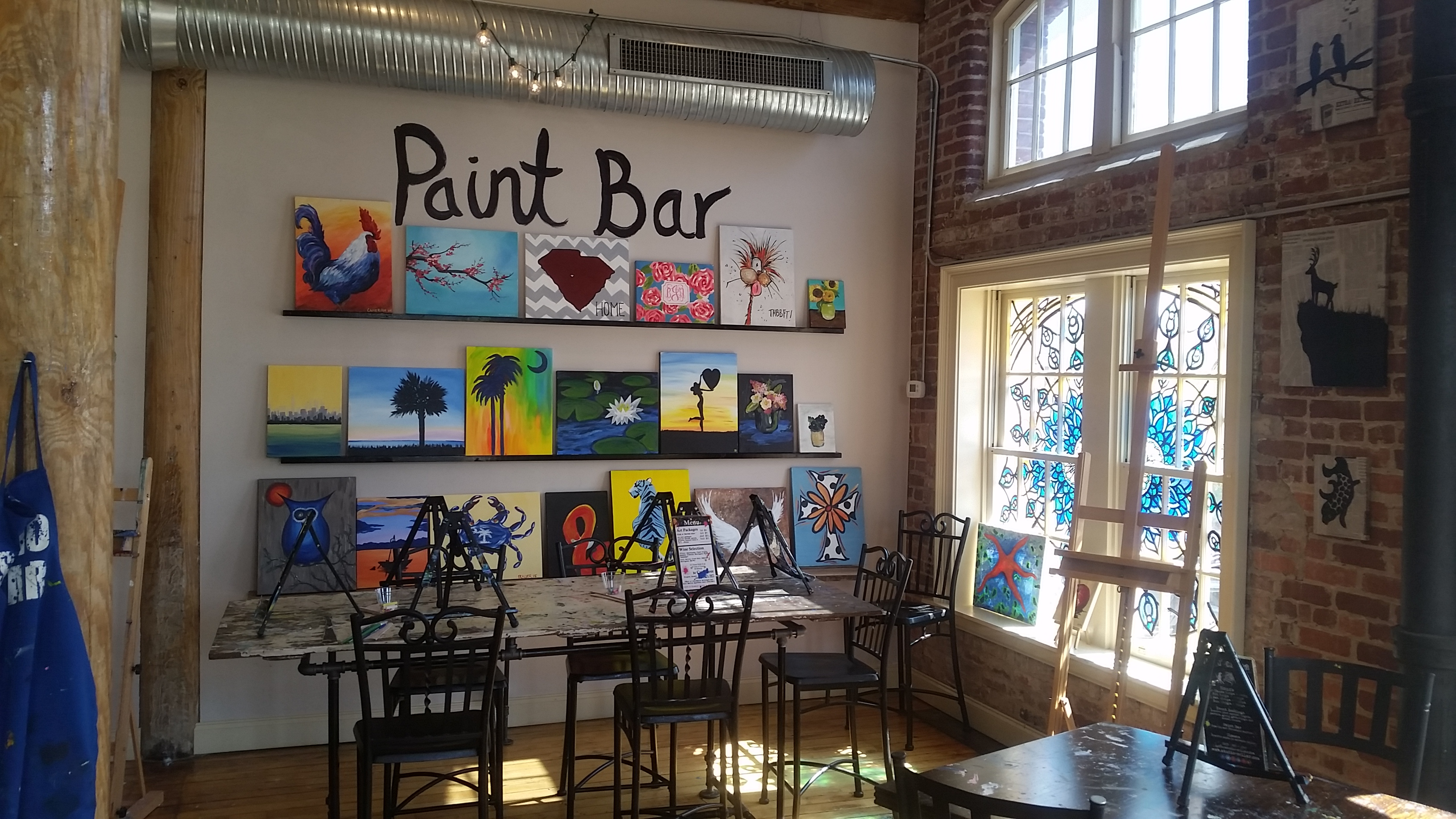 Studio cellar best paint and sip studio south end for Sip and paint charlotte nc